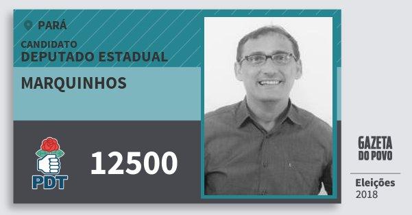 Santinho Marquinhos 12500 (PDT) Deputado Estadual | Pará | Eleições 2018