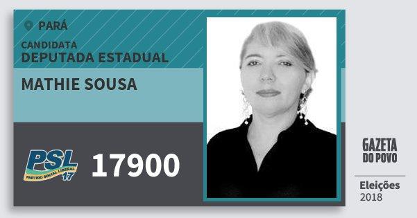 Santinho Mathie Sousa 17900 (PSL) Deputada Estadual | Pará | Eleições 2018