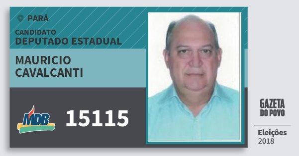 Santinho Mauricio Cavalcanti 15115 (MDB) Deputado Estadual | Pará | Eleições 2018