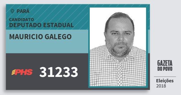 Santinho Mauricio Galego 31233 (PHS) Deputado Estadual | Pará | Eleições 2018