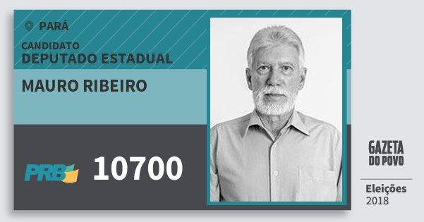 Santinho Mauro Ribeiro 10700 (PRB) Deputado Estadual | Pará | Eleições 2018