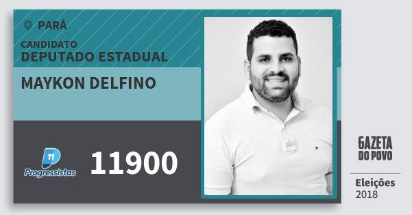 Santinho Maykon Delfino 11900 (PP) Deputado Estadual | Pará | Eleições 2018