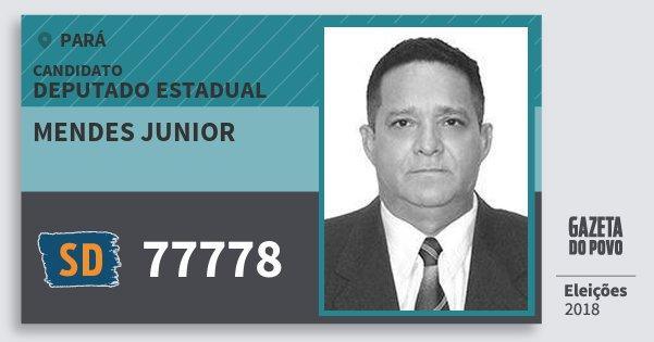 Santinho Mendes Junior 77778 (SOLIDARIEDADE) Deputado Estadual | Pará | Eleições 2018