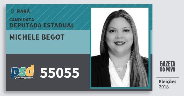 Santinho Michele Begot 55055 (PSD) Deputada Estadual | Pará | Eleições 2018