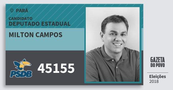 Santinho Milton Campos 45155 (PSDB) Deputado Estadual | Pará | Eleições 2018