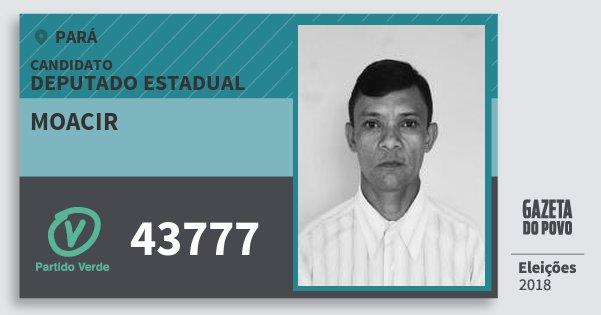 Santinho Moacir 43777 (PV) Deputado Estadual | Pará | Eleições 2018