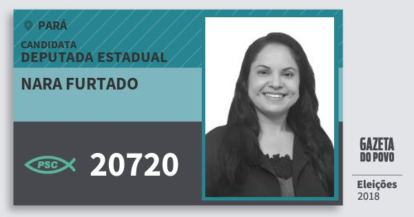 Santinho Nara Furtado 20720 (PSC) Deputada Estadual | Pará | Eleições 2018