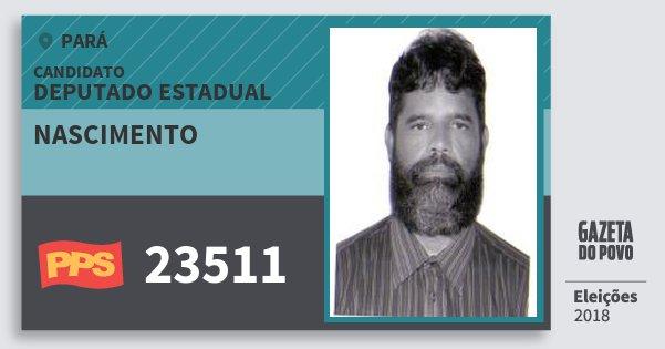 Santinho Nascimento 23511 (PPS) Deputado Estadual | Pará | Eleições 2018