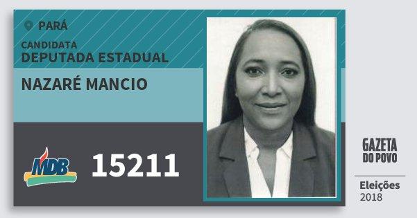 Santinho Nazaré Mancio 15211 (MDB) Deputada Estadual | Pará | Eleições 2018