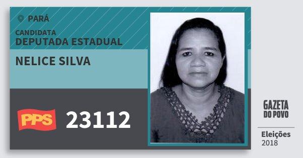 Santinho Nelice Silva 23112 (PPS) Deputada Estadual | Pará | Eleições 2018