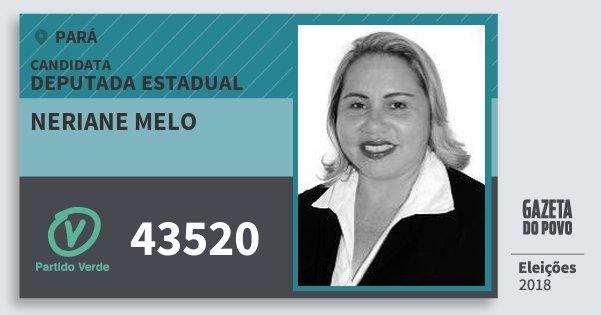 Santinho Neriane Melo 43520 (PV) Deputada Estadual | Pará | Eleições 2018