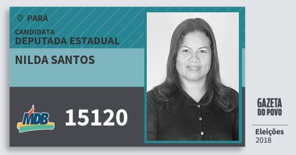 Santinho Nilda Santos 15120 (MDB) Deputada Estadual | Pará | Eleições 2018