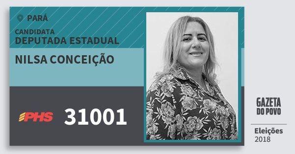 Santinho Nilsa Conceição 31001 (PHS) Deputada Estadual | Pará | Eleições 2018