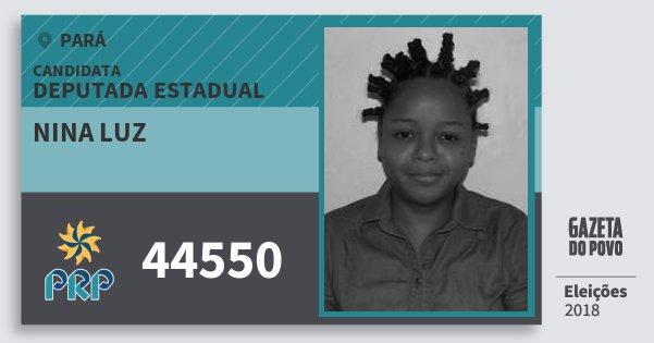 Santinho Nina Luz 44550 (PRP) Deputada Estadual | Pará | Eleições 2018