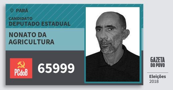 Santinho Nonato da Agricultura 65999 (PC do B) Deputado Estadual | Pará | Eleições 2018