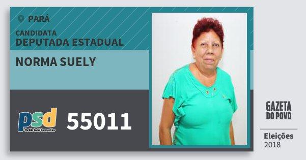 Santinho Norma Suely 55011 (PSD) Deputada Estadual | Pará | Eleições 2018