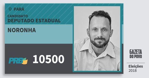 Santinho Noronha 10500 (PRB) Deputado Estadual | Pará | Eleições 2018