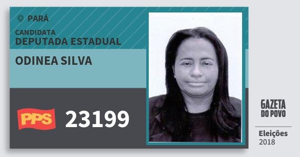 Santinho Odinea Silva 23199 (PPS) Deputada Estadual | Pará | Eleições 2018