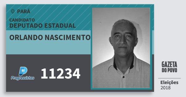 Santinho Orlando Nascimento 11234 (PP) Deputado Estadual | Pará | Eleições 2018