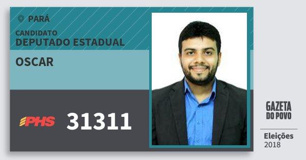 Santinho Oscar 31311 (PHS) Deputado Estadual | Pará | Eleições 2018