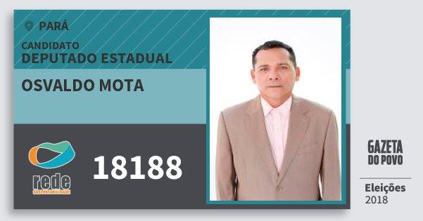 Santinho Osvaldo Mota 18188 (REDE) Deputado Estadual | Pará | Eleições 2018