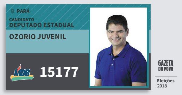 Santinho Ozorio Juvenil 15177 (MDB) Deputado Estadual | Pará | Eleições 2018