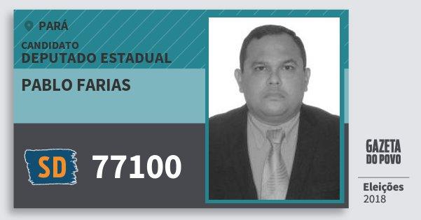 Santinho Pablo Farias 77100 (SOLIDARIEDADE) Deputado Estadual | Pará | Eleições 2018