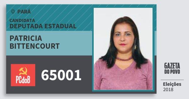 Santinho Patricia Bittencourt 65001 (PC do B) Deputada Estadual | Pará | Eleições 2018