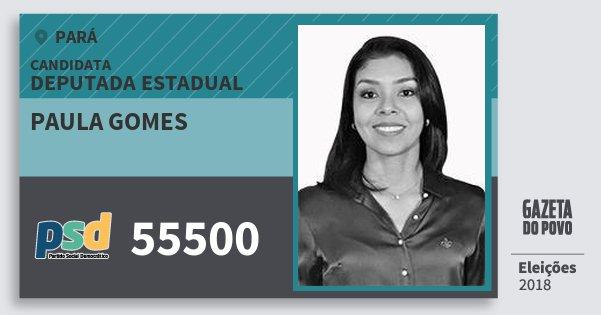 Santinho Paula Gomes 55500 (PSD) Deputada Estadual | Pará | Eleições 2018