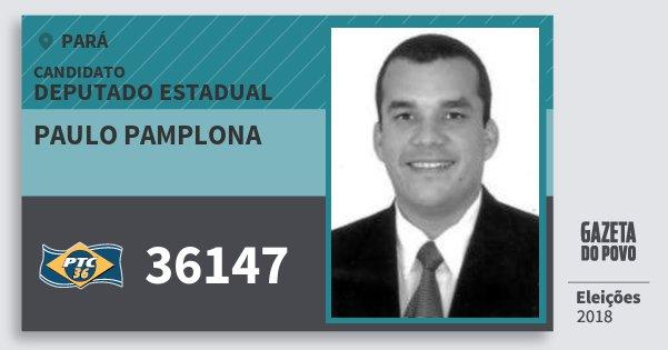 Santinho Paulo Pamplona 36147 (PTC) Deputado Estadual | Pará | Eleições 2018