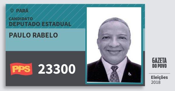 Santinho Paulo Rabelo 23300 (PPS) Deputado Estadual | Pará | Eleições 2018