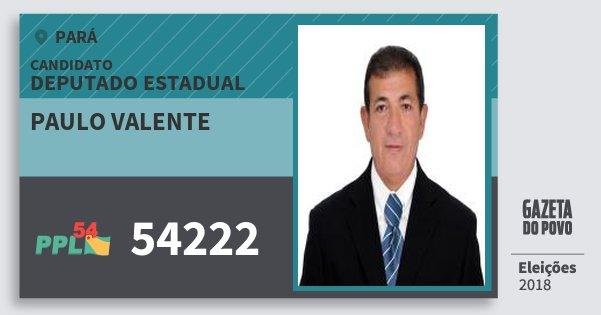 Santinho Paulo Valente 54222 (PPL) Deputado Estadual | Pará | Eleições 2018