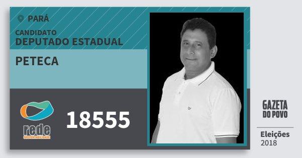 Santinho Peteca 18555 (REDE) Deputado Estadual | Pará | Eleições 2018