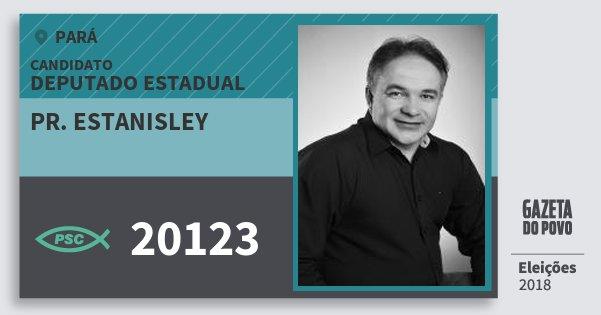 Santinho Pr. Estanisley 20123 (PSC) Deputado Estadual | Pará | Eleições 2018