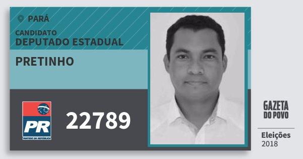 Santinho Pretinho 22789 (PR) Deputado Estadual | Pará | Eleições 2018