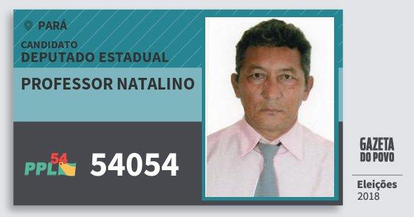Santinho Professor Natalino 54054 (PPL) Deputado Estadual | Pará | Eleições 2018