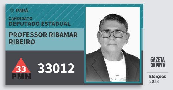 Santinho Professor Ribamar Ribeiro 33012 (PMN) Deputado Estadual | Pará | Eleições 2018