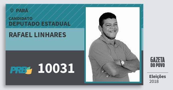 Santinho Rafael Linhares 10031 (PRB) Deputado Estadual | Pará | Eleições 2018