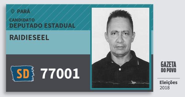 Santinho Raidieseel 77001 (SOLIDARIEDADE) Deputado Estadual | Pará | Eleições 2018