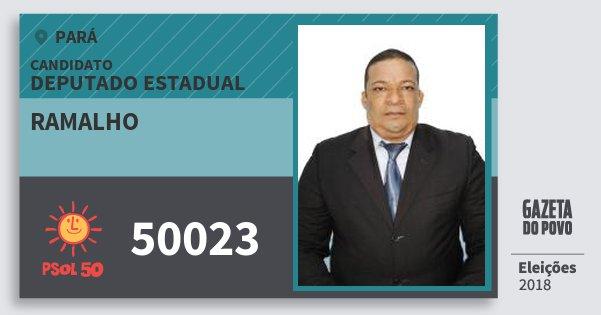 Santinho Ramalho 50023 (PSOL) Deputado Estadual | Pará | Eleições 2018