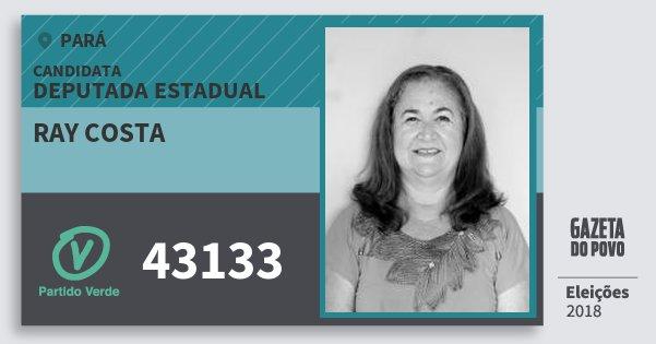 Santinho Ray Costa 43133 (PV) Deputada Estadual | Pará | Eleições 2018