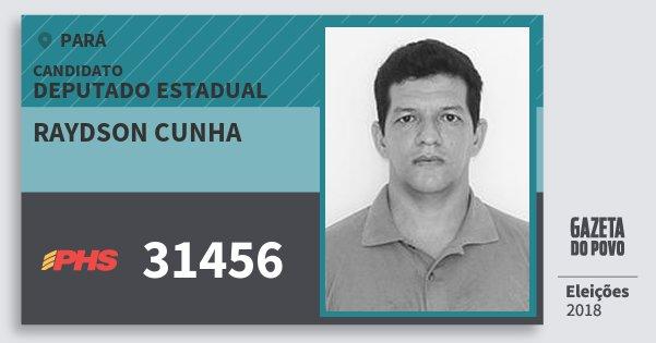 Santinho Raydson Cunha 31456 (PHS) Deputado Estadual | Pará | Eleições 2018