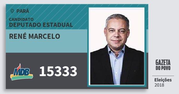 Santinho René Marcelo 15333 (MDB) Deputado Estadual | Pará | Eleições 2018
