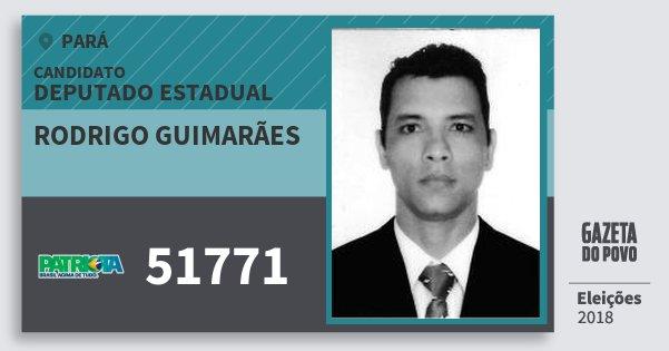 Santinho Rodrigo Guimarães 51771 (PATRI) Deputado Estadual | Pará | Eleições 2018