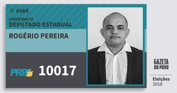 Santinho Rogério Pereira 10017 (PRB) Deputado Estadual | Pará | Eleições 2018