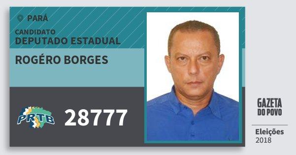 Santinho Rogéro Borges 28777 (PRTB) Deputado Estadual | Pará | Eleições 2018