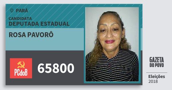 Santinho Rosa Pavorô 65800 (PC do B) Deputada Estadual | Pará | Eleições 2018