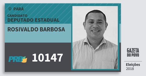 Santinho Rosivaldo Barbosa 10147 (PRB) Deputado Estadual | Pará | Eleições 2018