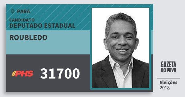 Santinho Roubledo 31700 (PHS) Deputado Estadual | Pará | Eleições 2018