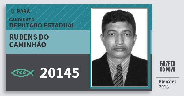 Santinho Rubens do Caminhão 20145 (PSC) Deputado Estadual | Pará | Eleições 2018